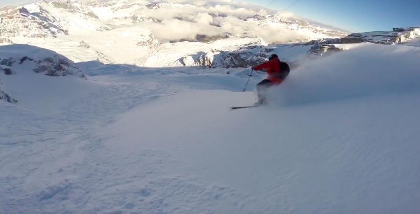 powder-skiing